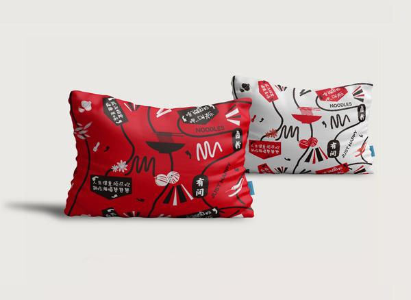 海吃海喝有间卤粉店加盟品牌-抱枕